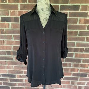 NWT Express black Portofino shirt
